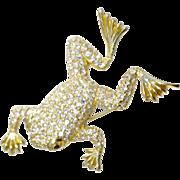 A Vintage Signed Christian DIor Frog Brooch