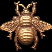 A Vintage Signed Joseff of Hollywood Goldtone Bee Brooch