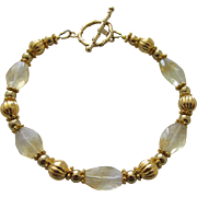 Natural Lemon Quartz Gold Filled Bracelet
