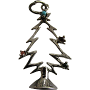 Sterling Silver Christmas Tree with gemstones Charm