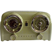 SOLD Repaired/Refurbished 1953 Crosley Tube Clock Radio Model DB-25 CE (Chartreuse) with Bluet