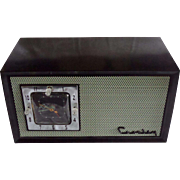 SOLD Repaired/Refurbished 1953 Crosley Tube Radio/Clock Model E-75 GN.