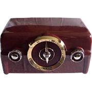 SOLD 1950 Crosley Tube Radio Model 10-138 (Maroon) with Bluetooth receiver and cable included