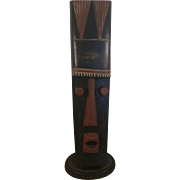 REDUCED African Hausa Mask on Stand Handmade in Ghana