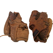 Pair of Vintage Baseball Gloves Spalding Wilson