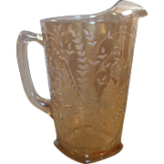 1950's Jeannette Glass Floragold Louisa Pitcher