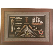 Maritime Sailing Ship Shadow Box