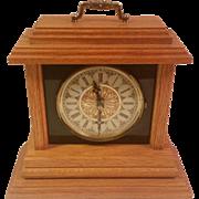 SALE Wood Quartz Mantle Clock