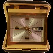 SALE PENDING Vintage Bulova Caravelle Travel Alarm Clock