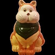 Vintage Tabby Cat Cookie Jar Made in Japan