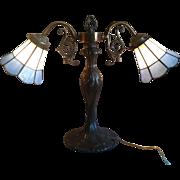 Vintage Ornate Double Arm Table Lamp