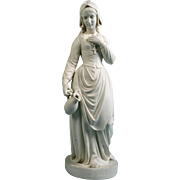 SALE Antique circa 1865 Large Copeland Parian Figurine By S. Terry Evangeline Statue/Sculpture