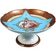 Royal Vienna Porcelain Compote Candy Dish Tazza Venus Graces Cupid 19th Century