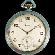Rare - DOXA Open Face Swiss pocket watch 15 Rubies