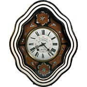 Antique FRENCH Repeater MORBIER MOREZ Mother of Pearl Wall clock  WORKS
