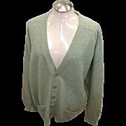 Vintage Pringles Made in Scotland wool men green Sweater