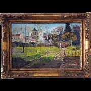 French impressionist painting of Villemoisson sur Orge c. 1880 by Francisque Duperelle