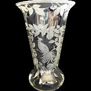 Cambridge Large Etched Crystal Vase