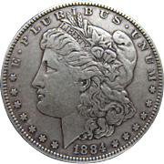 SOLD Collector Quality 1884 P Morgan Silver Dollar F-VF