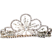 Vintage Tiara Wedding Crown / Crystal Wedding Tiara / Rhinestone Bridal Tiara / Bridal Headpie
