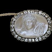15 Carat Victorian Cameo Rock crystal Brooch - Circa 1860