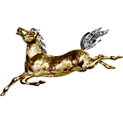 18 Carat gold Horse Diamond Brooch