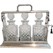SALE Art Deco English Silver Liquor Tantalus