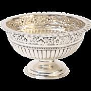 Antique Sterling Silver Repousse Bowl
