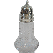 English Sterling Sugar Castor Shaker Jar, 1952