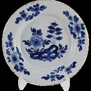 18th-Century English Delft Plate