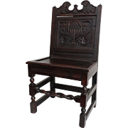 SALE 18th-Century English Oak Hall Chair