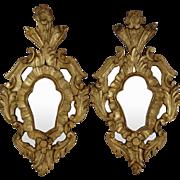 Italian Rococo Gilt Mirrors, Pair