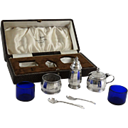 Sterling Traveling Condiment Cased Set, 1939