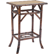 19th-Century French Tortoise Bamboo Table
