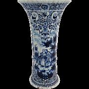 Antique Large Dutch Delft Vase