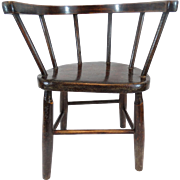 Antique Oak Child's Chair, English