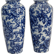 Pair Cavendish Vases, by Keeling, Staffordshire
