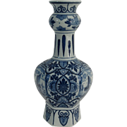 Hexagonal Dutch Delft Vase