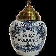 Antique Delft Tobacco Jar
