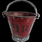 Early English Metal Fire Bucket