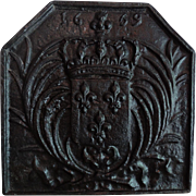17th-Century French Iron Fire Back