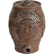 English Stoneware Spirits Barrel, C. 1880