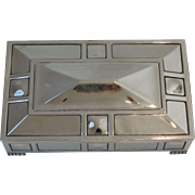 Silver Art Deco Box, England, Early 20th-Century