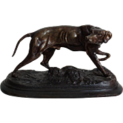 Bronze Retriever Dog Sculpture