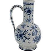 Antique Delft Faience Pitcher, Early 19th-Century