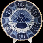 Antique Delft 'Peacock' Platter  18th-Century, Dutch