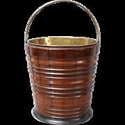 Antique Dutch Fruit Wood & Ebony Bucket