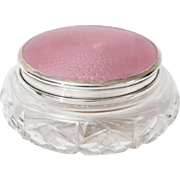 Sterling & Guilloche Vanity Jar