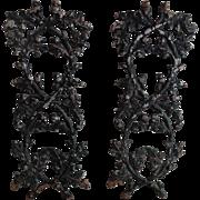 19th-Century Iron Wall Panels, Pair