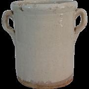 Antique Italian Confit Jar Pot, Earthenware, Pottery